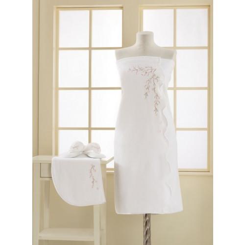 Набор для сауны женский Soft Cotton Ruya (белый) размер S-L