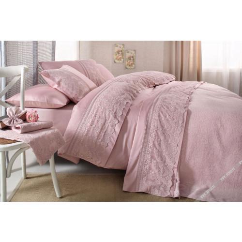 Свадебное постельное белье Gelin Home Sal (розовый) евро
