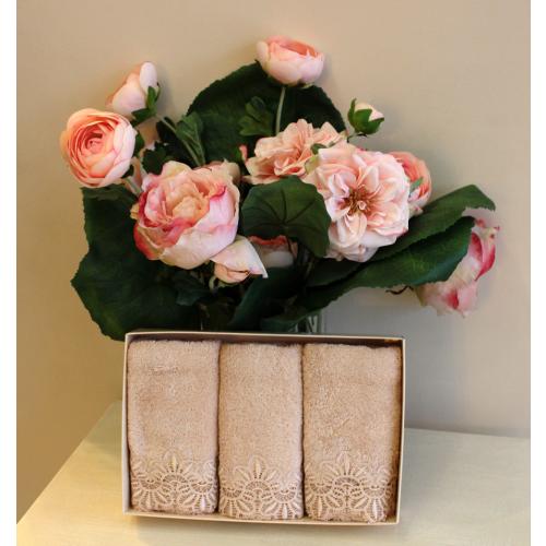 Салфетки Soft Cotton Victoria (пудра, 3 предмета) 32x50