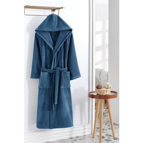 Халат мужской Soft Cotton Stripe (синий)