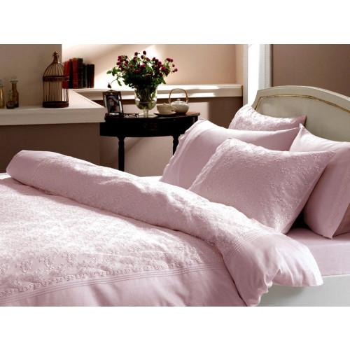 Свадебное постельное белье Gelin Home Sedef (розовое) евро
