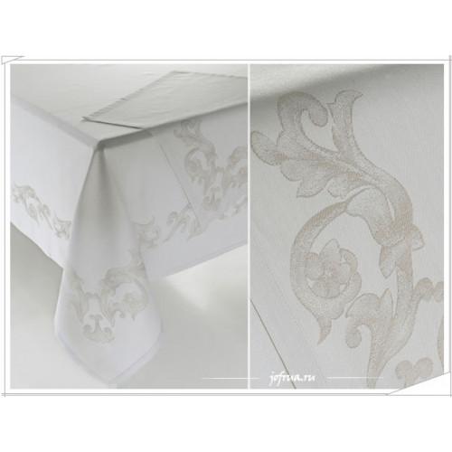 Скатерть + 8 салфеток Soft Cotton Camilla (кремовая) 160х260