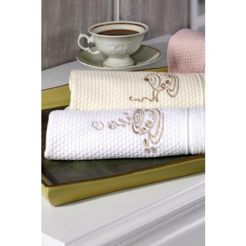 Салфетки для кухни Soft Cotton Mocha (белый, 3 предмета)