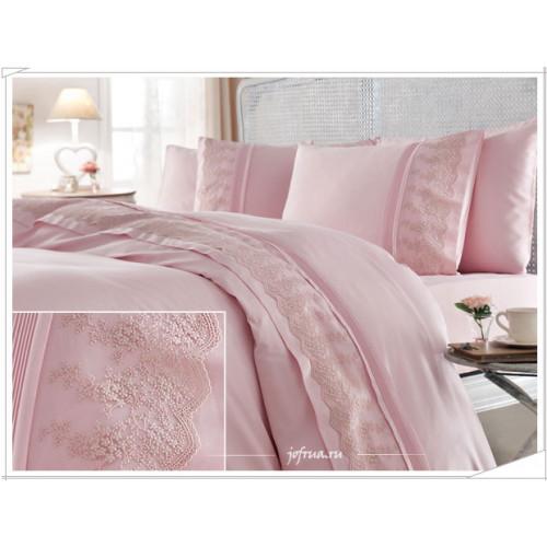Свадебное постельное белье Gelin Home Bahar (розовое) евро
