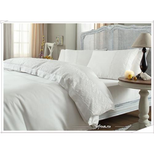 Свадебное постельное белье Gelin Home Bella (белое) евро
