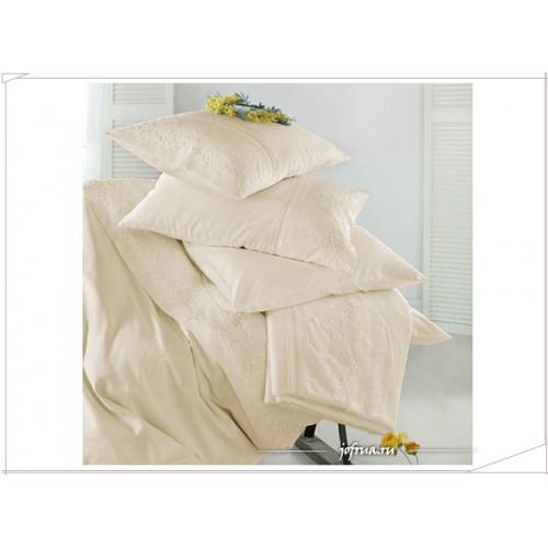 Свадебное постельное белье Gelin Home Cagla (шампань) евро
