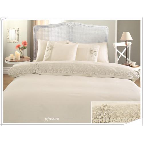 Свадебное постельное белье Gelin Home Caroline (шампань) евро
