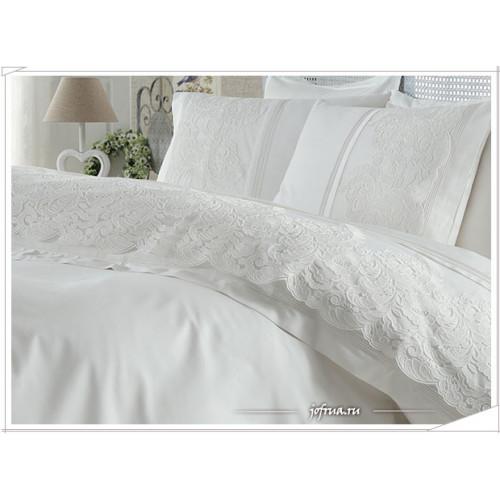 Свадебное постельное белье Elmas (белое) евро