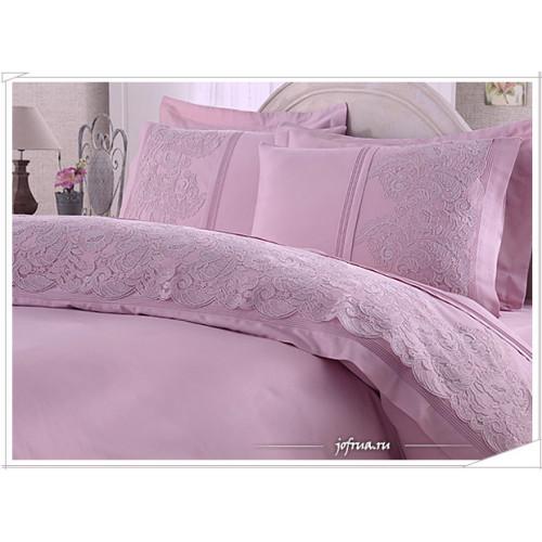 Свадебное постельное белье Gelin Home Elmas (лиловое) евро