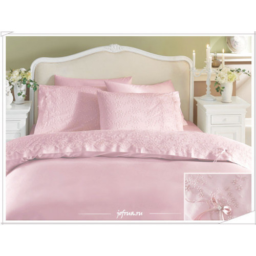 Свадебное постельное белье Gelin Home Gelin (розовое) евро