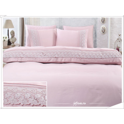 Свадебное постельное белье Gelin Home Lilya (лиловое) евро