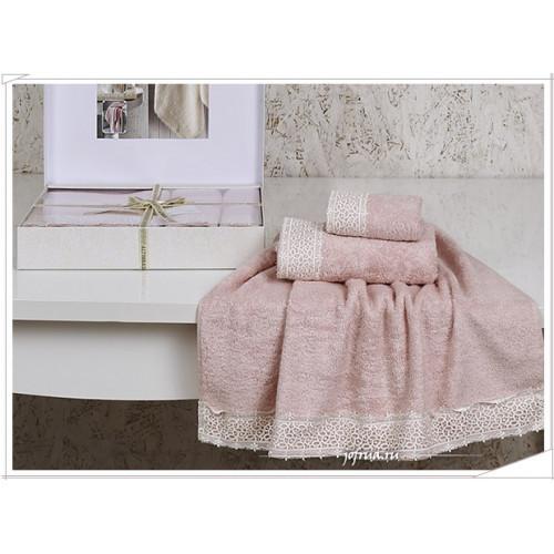 Набор полотенец Altinbasak Sveta (розовый, 3 предмета)