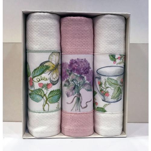 Салфетки для кухни Tivolyo Bergamo (3 предмета, кремовый) 30x50