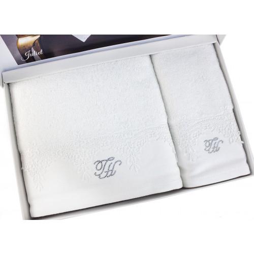 Набор полотенец Tivolyo Juliet (белый) 2 предмета