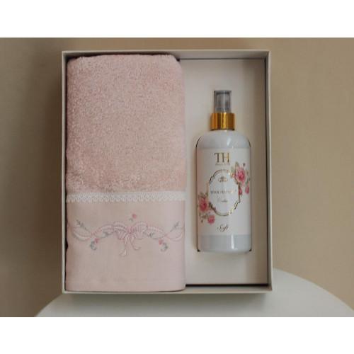 Полотенце Tivolyo Spring (розовое) 50x100 с ароматизатором