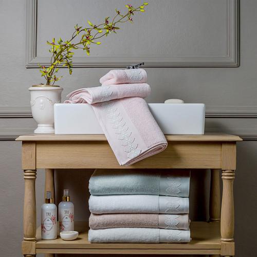 Набор полотенец Tivolyo Tess (розовый) 3 предмета