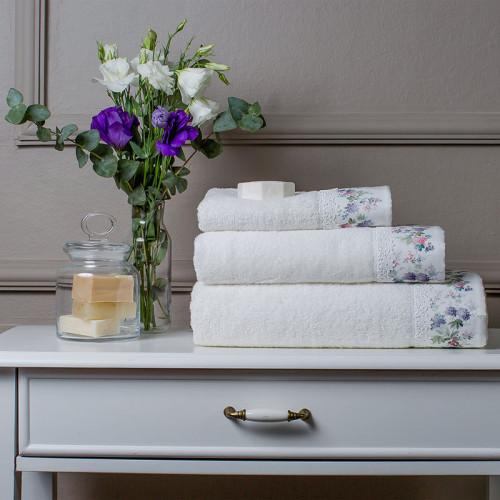 Набор полотенец Tivolyo Versailles (белый) 3 предмета