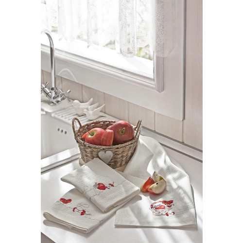 Салфетки для кухни Tivolyo Apple (3 предмета) 40x60