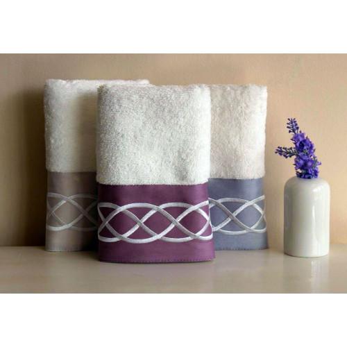 Полотенце Tivolyo Home Chain Bantli (фиолетовое)