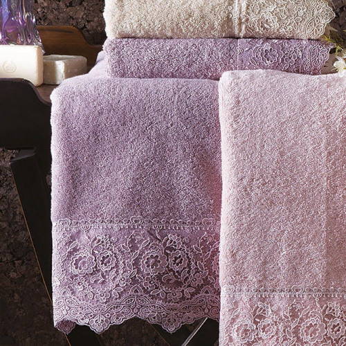 Набор полотенец Tivolyo Elegant (фиолетовый) 2 предмета