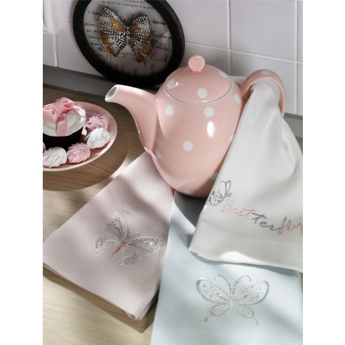 Салфетки для кухни Tivolyo Butterfly (3 предмета) 40x60