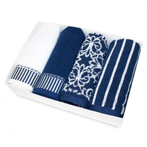 Набор салфеток Tivolyo Casablanca (4 предмета, темно-синий) 40x60