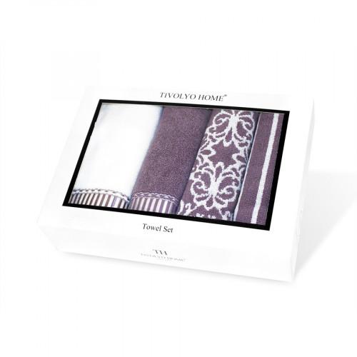 Набор салфеток Tivolyo Casablanca (4 предмета, фиолетовый) 40x60