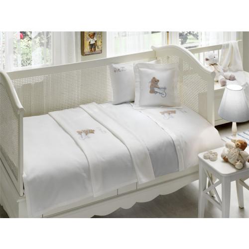 Набор в кроватку с покрывалом Tivolyo Pourtol Bebe (голубое)
