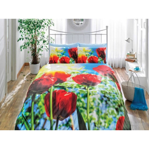 Постельное белье TAC 3D Tulip 1.5-спальное