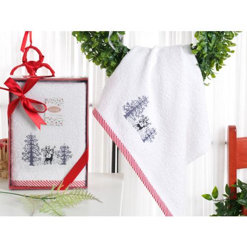 Новогоднее полотенце Karna Noel-2 V2 50x90