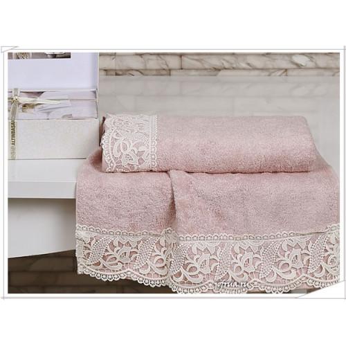 Набор полотенец Altinbasak Veronika (розовый, 3 предмета)