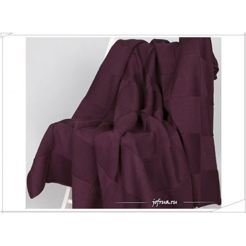 Вязаный плед Valtery Квадрат (фиолетовый)