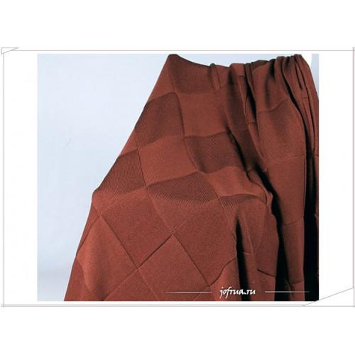 Вязаный плед Valtery Квадрат (коричневый)