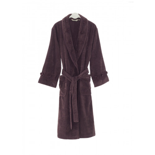 Халат женский Soft Cotton Yonca (фиолетовый)