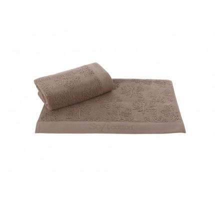 Набор салфеток Soft Cotton Leaf коричневый (3 предмета)