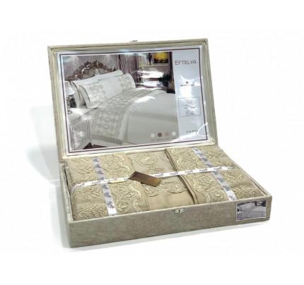 Постельное белье Essen Eftelya kapucino евро