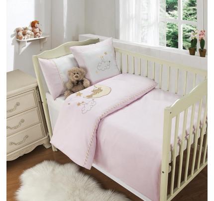 Sofi de Marko Мишутка на луне (розовый) детский комплект в кроватку