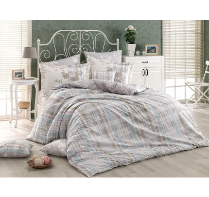 Постельное белье Hobby Home поплин Elenora (серый)