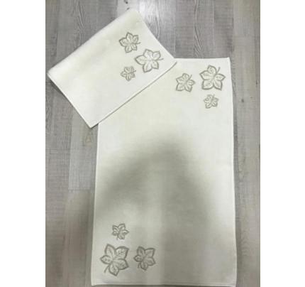 Набор ковриков Karven Yaprak кремовый (50x60+60x100)