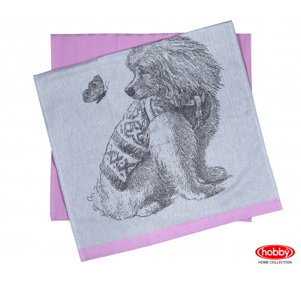 Набор салфеток Hobby Home Friend розовый (50x70, 2 предмета)