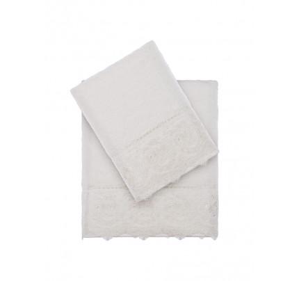Набор полотенец Tivolyo Elegant (кремовый) 2 предмета
