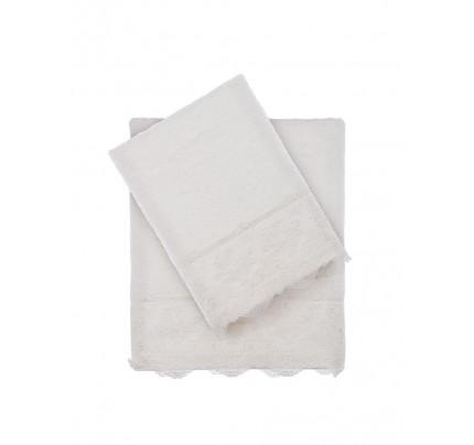 Набор полотенец Tivolyo Minoso (кремовый) 2 предмета