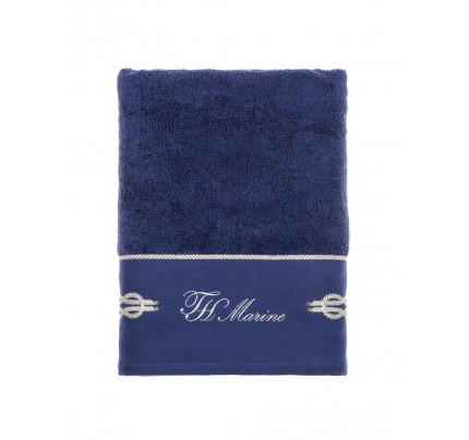 Полотенце в коробке Tivolyo Ancora (синее) 50x100