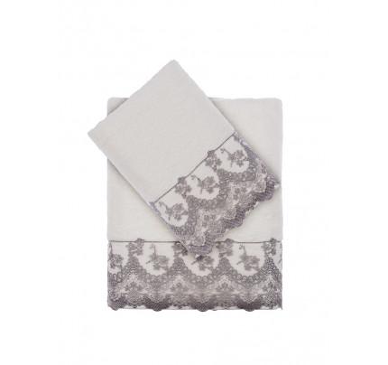 Набор полотенец Tivolyo Regina (серый) 2 предмета
