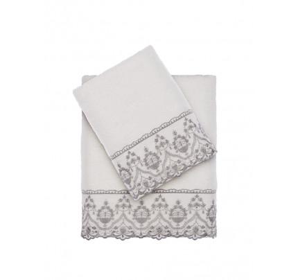 Набор полотенец Tivolyo Lina (серый) 2 предмета