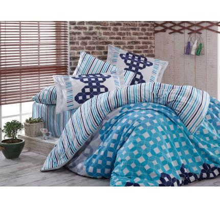 Постельное белье Hobby Home сатин Marsella (голубой)