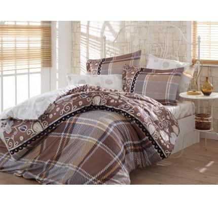 Постельное белье Hobby Home сатин Monica (коричневый)