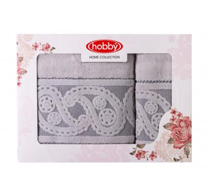 Набор полотенец Hobby Home Hurrem (2 предмета, серый)