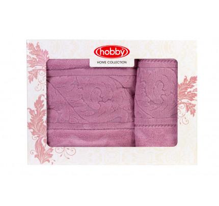 Набор полотенец Hobby Home Sultan (2 предмета, темно-розовый)