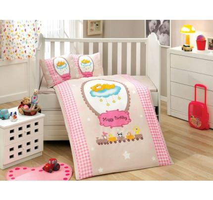 Детское белье в кроватку Hobby Home Bambam (розовое)